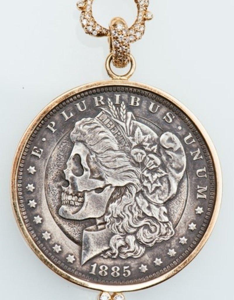 ERICA COURTNEY Dia De Los Gorgeous 1815 Coin Pendant