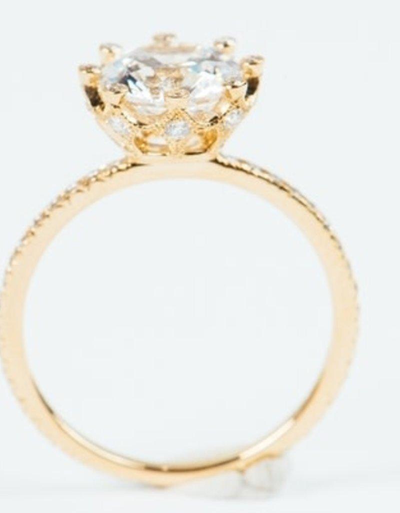 ERICA COURTNEY White Sapphire Emani Ring