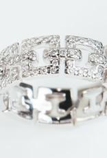 ERICA COURTNEY Platinum Emma Band Ring