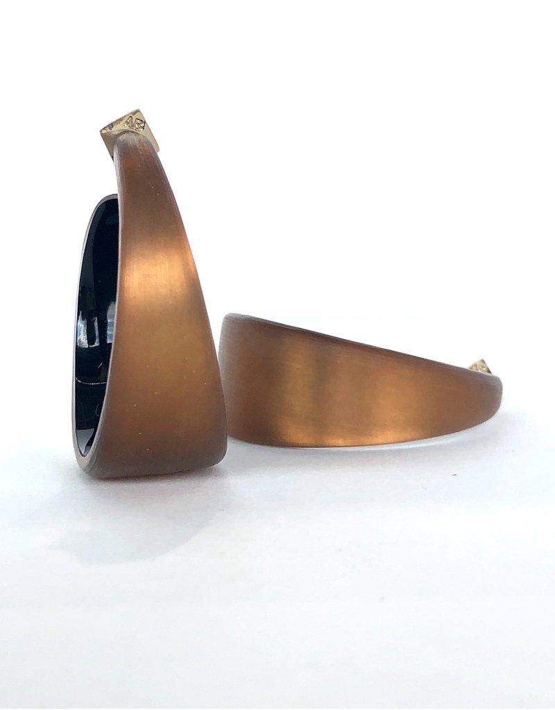 ALEXIS BITTAR Wide Graduated Medium Hoop - Amber