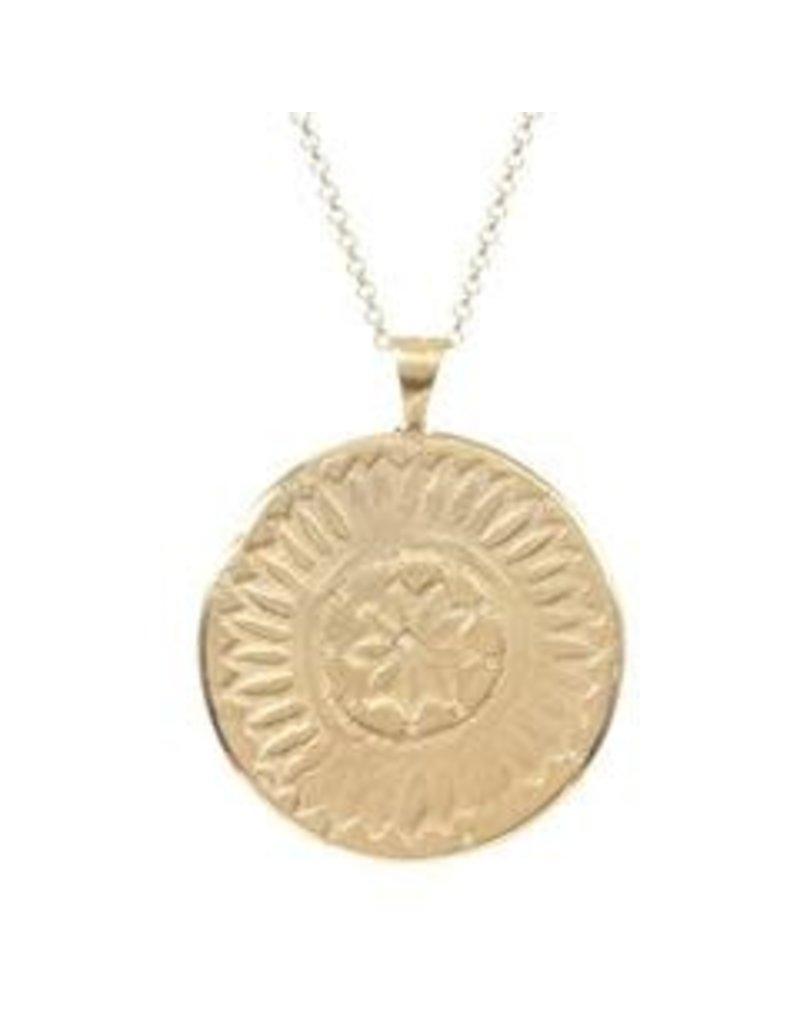 PAGE SARGISSON Gold Medallion & Diamond Necklace