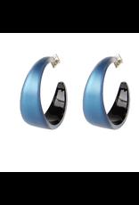 ALEXIS BITTAR Medium Hoop Lucite Earring - Pacific Blue