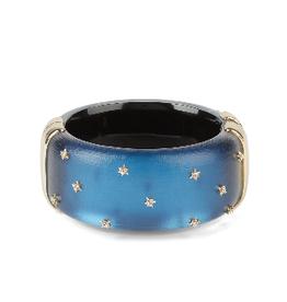 ALEXIS BITTAR Spike Studded Large Hinge Bracelet - Pacific Blue