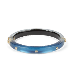 ALEXIS BITTAR Spike Studded Hinge Bracelet - Pacific Blue