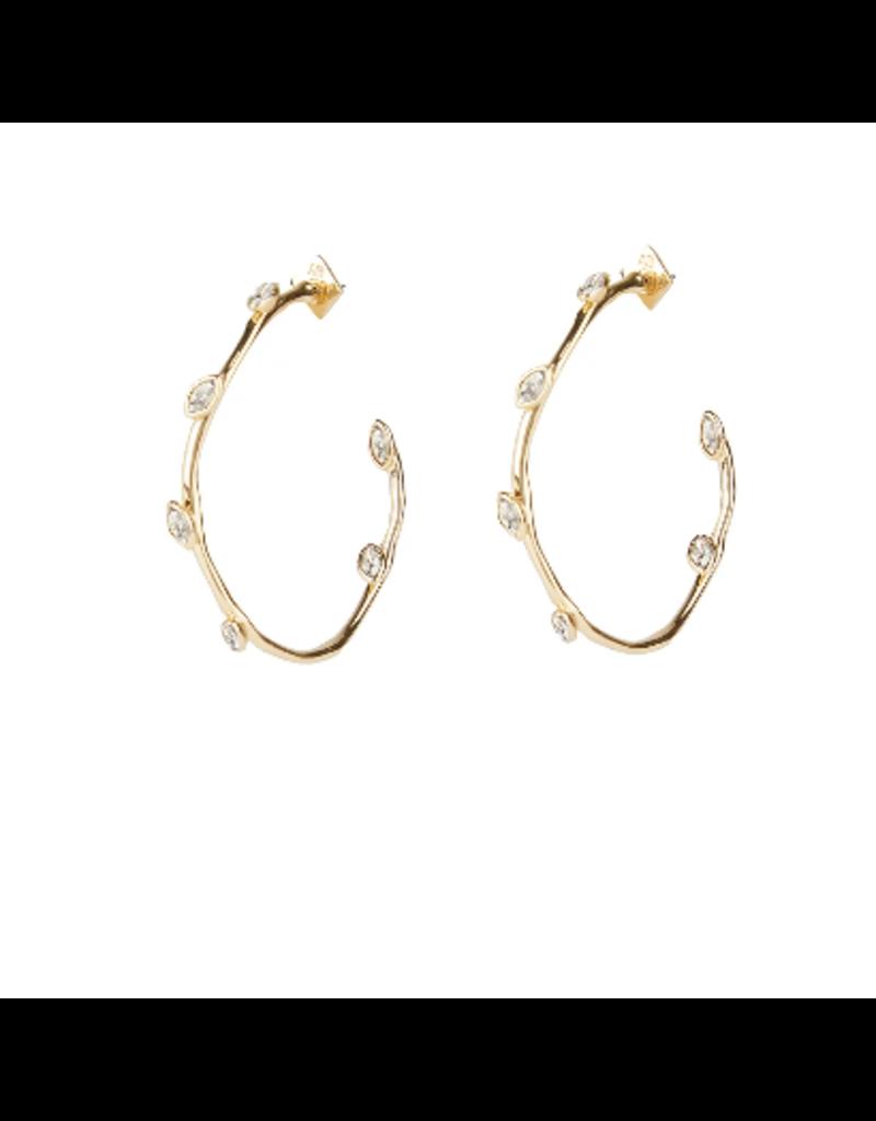 ALEXIS BITTAR Navette Crystal Hoop Earring