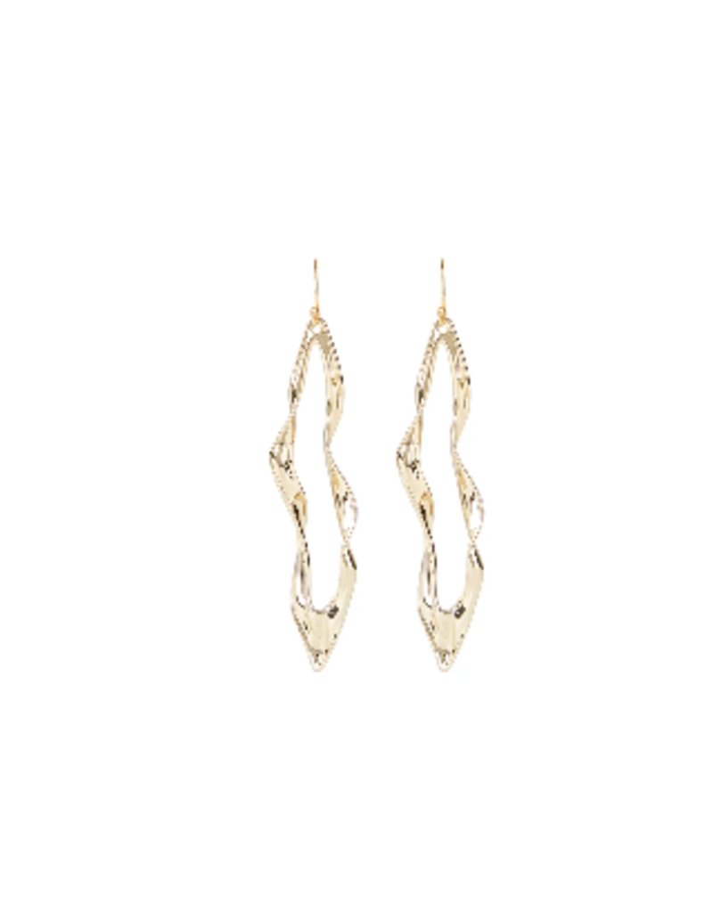 ALEXIS BITTAR Crumpled Metal Wire Earring