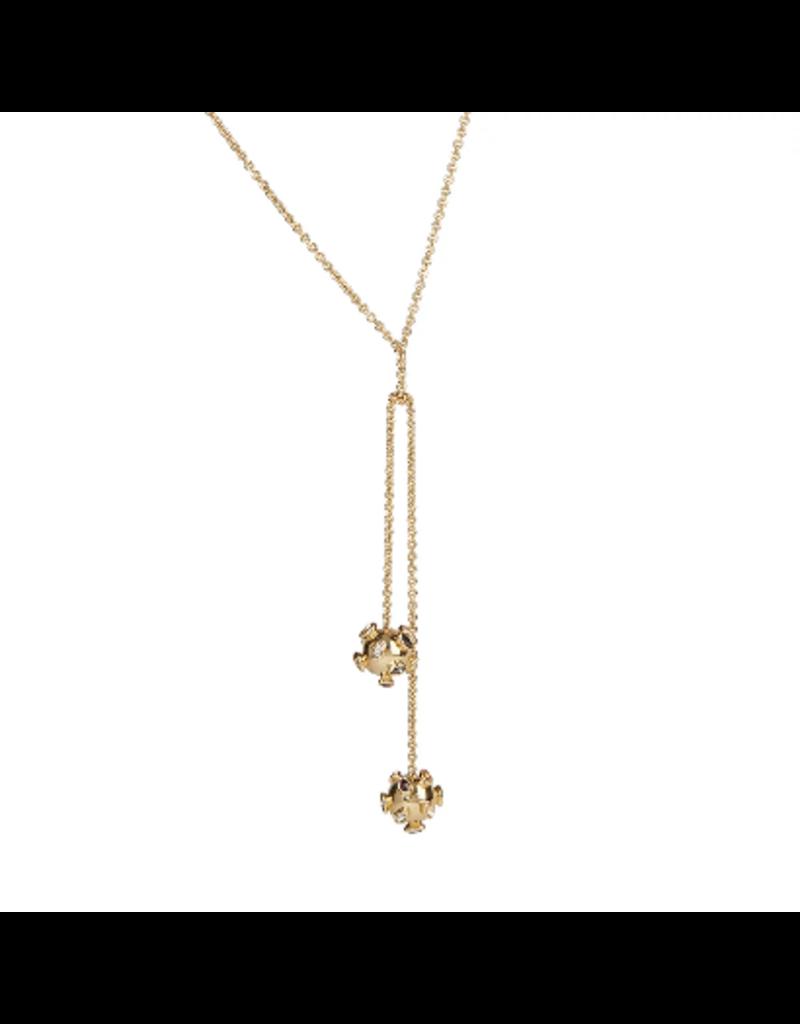 ALEXIS BITTAR Double Sputnick Knot Necklace