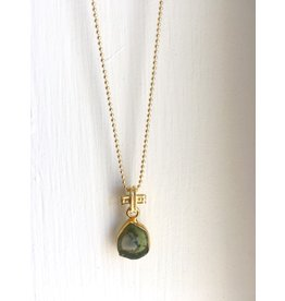 SENNOD Watermelon Tourmaline Necklace 16""