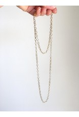 """SENNOD Silver and Gold Two-tone Necklace 36"""""""