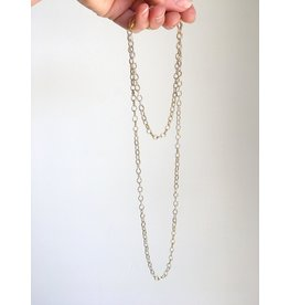 SENNOD Silver and Gold Two-tone Necklace 36""