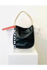 PROENZA SCHOULER Color Block L Tote w/ Side Pockets - Black & White