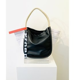 PROENZA SCHOULER Color Block L Tote w/ Side Pockets - Black & White