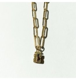 "SENNOD Paperclip Vignette Chain 30"" Gold"