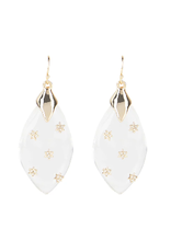 ALEXIS BITTAR Spike Studded Wire Drop Earring - Clear