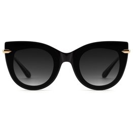 KREWE Laveau Nylon - Black and Crystal (Grey Gradient Lens) with Gold