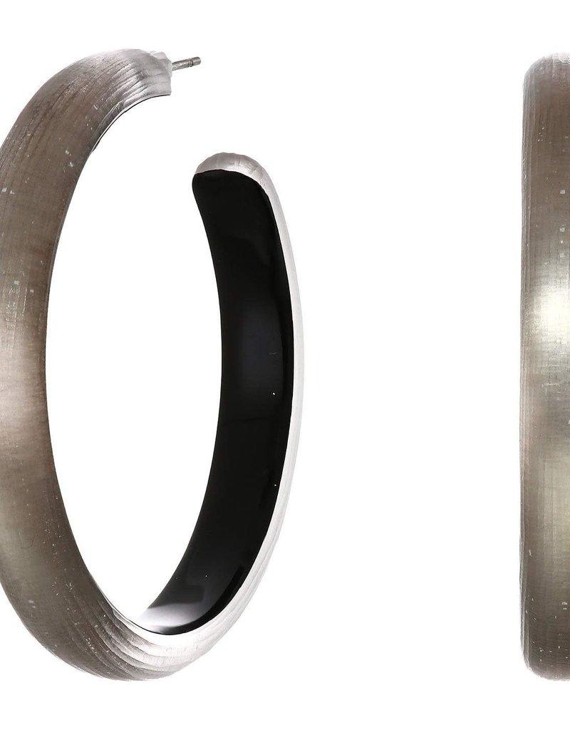 ALEXIS BITTAR Large Lucite Hoop Earring - Warm Grey