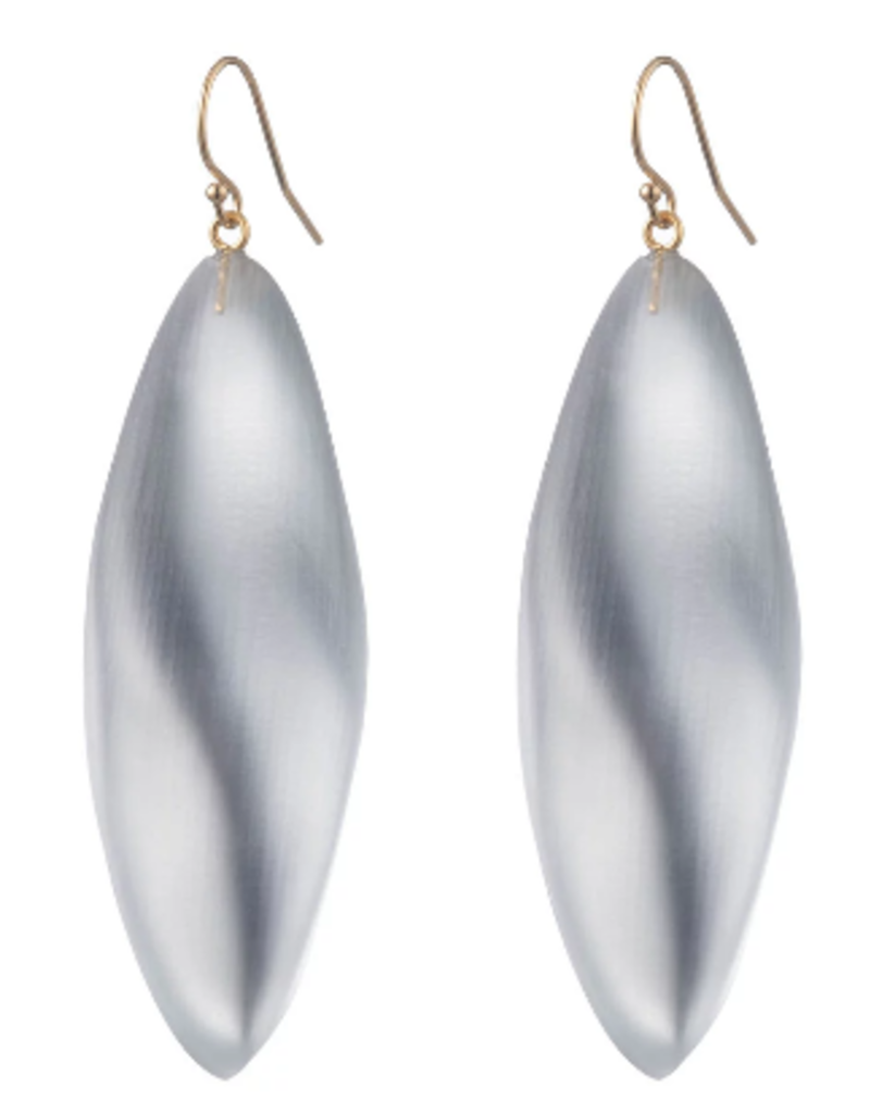 ALEXIS BITTAR Long Leaf Earring - Silver