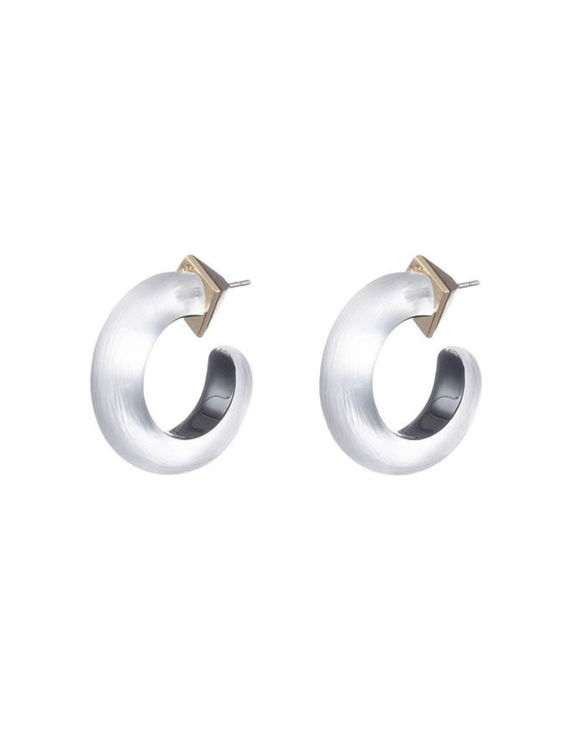 ALEXIS BITTAR Small Thin Hoops - Silver