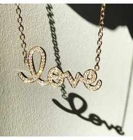 SYDNEY EVAN Big Diamond Love Necklace