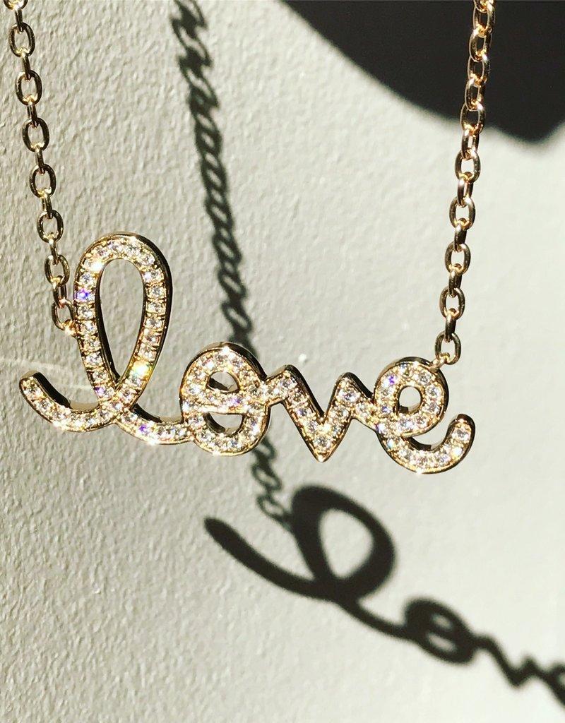 SYDNEY EVAN Big Diamond Love Necklace
