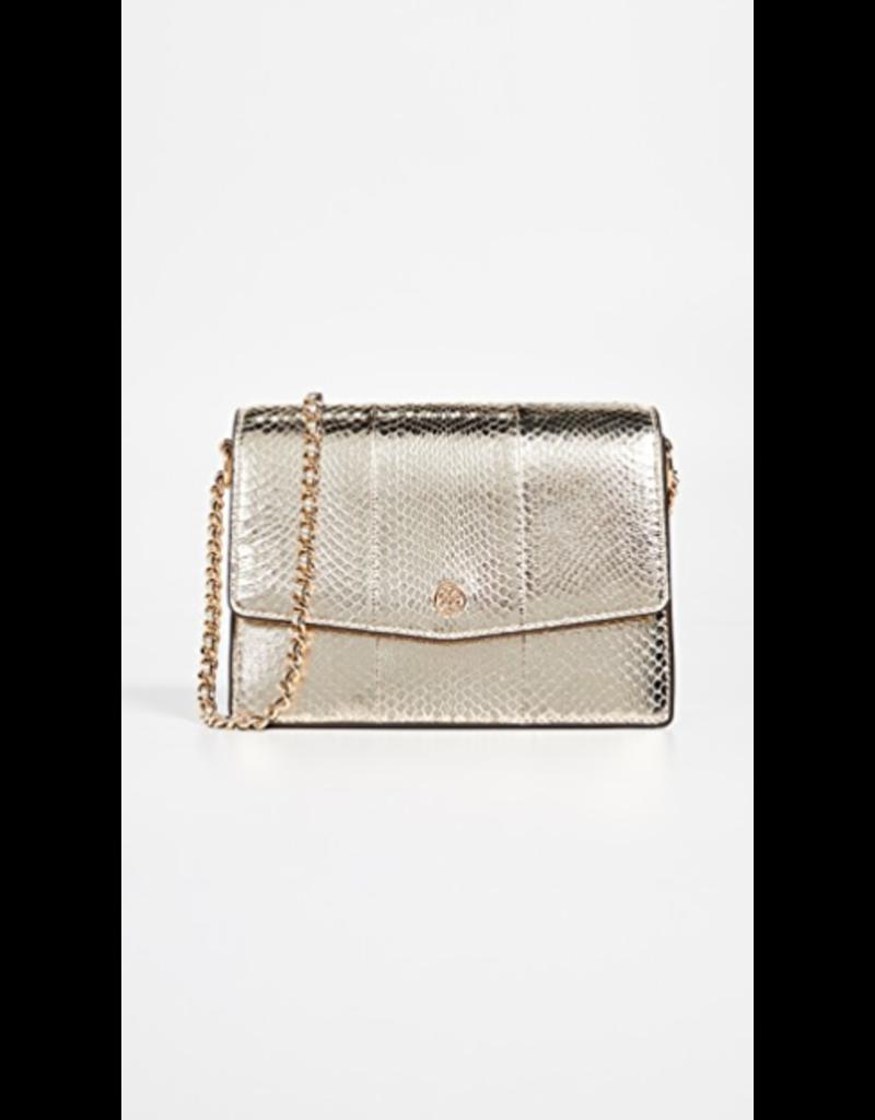 TORY BURCH Robinson Convertible Shoulder Bag - Exotic - Gold