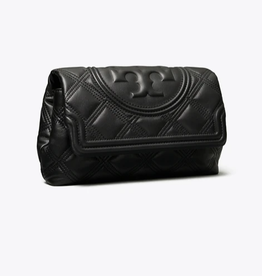 TORY BURCH Fleming Soft Clutch - Black