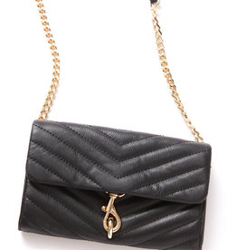 REBECCA MINKOFF Edie Wallet On Chain - Black