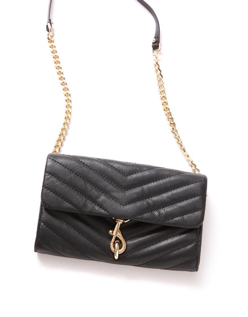 REBECCA MINKOFF Edie Wallet On Chain - Black