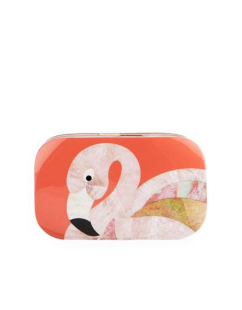 RAFE Kiki Minaudiere Flamingo Clutch