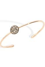 POMELLATO Brown Diamond Sabbia Cuff Bracelet