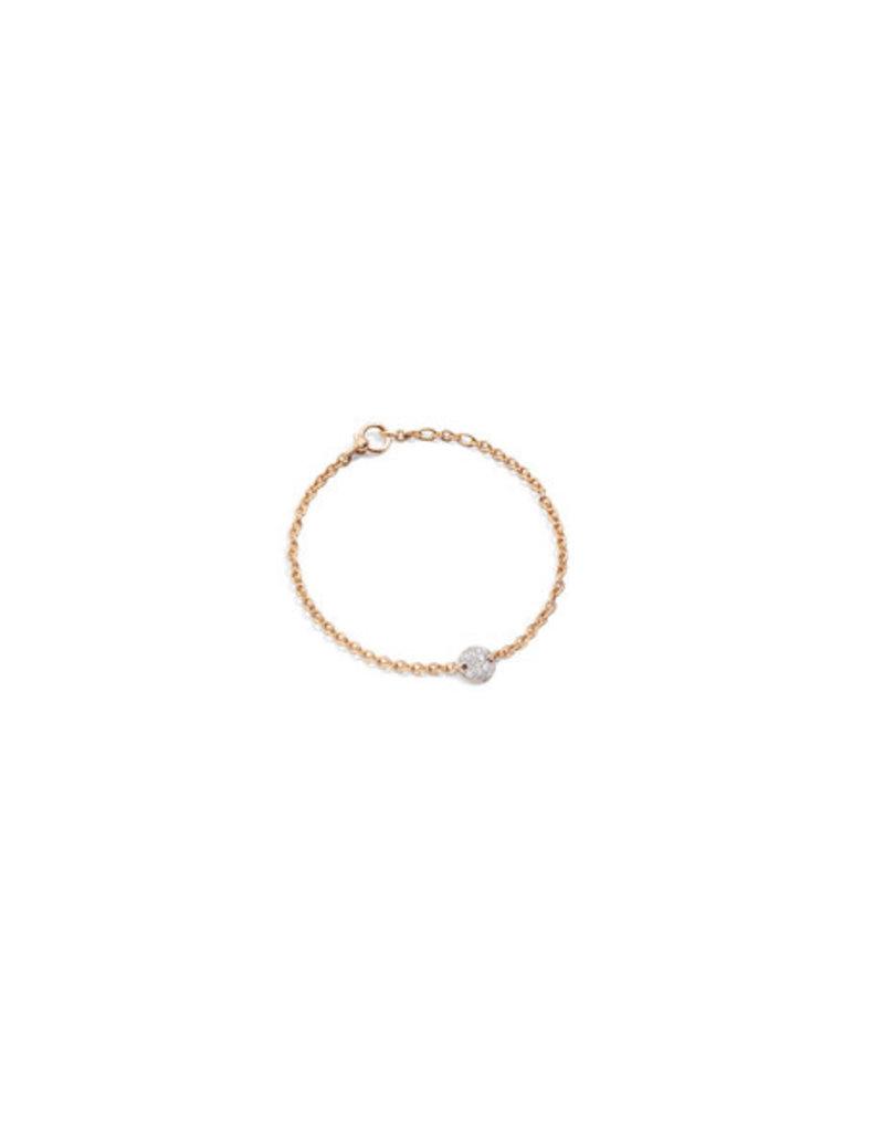 POMELLATO White Diamond Sabbia Link Bracelet