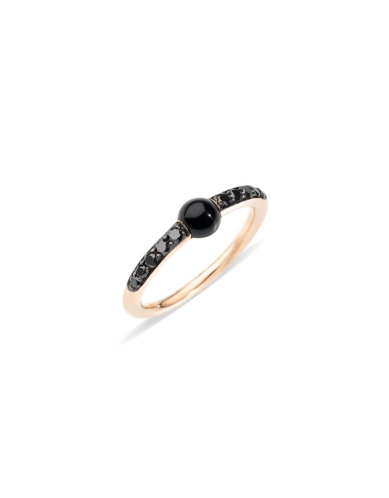 POMELLATO Onyx + Black Diamond M'ama Non M'ama Ring
