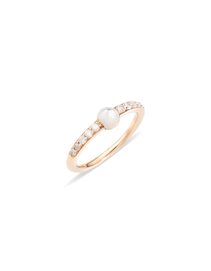POMELLATO Mother of Pearl + Icy Diamond M'ama Non M'ama Ring