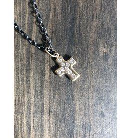 ERICA MOLINARI 18K 9 Diamond Rustic Cross