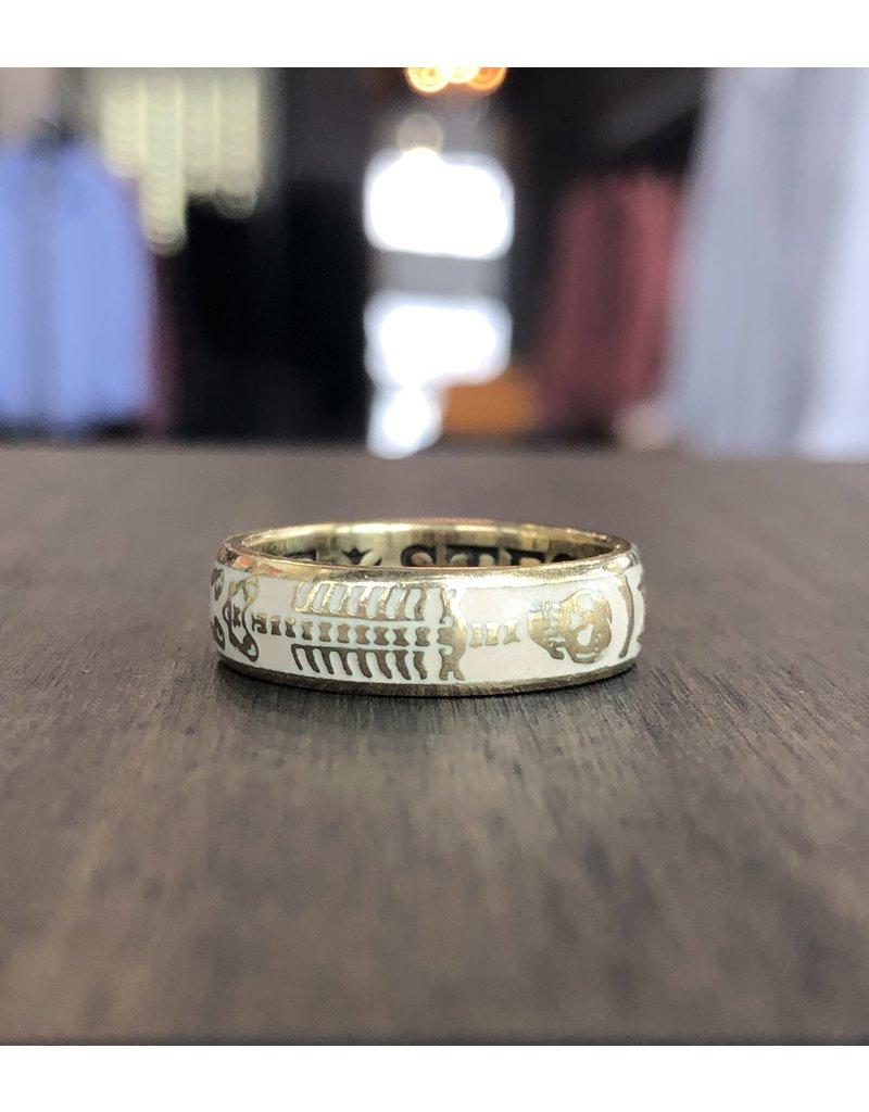ERICA MOLINARI 18K Skeleton Flower Ring