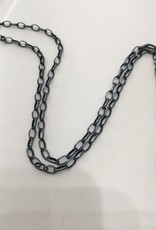 "ERICA MOLINARI 24"" Oxidized Large Oval Chain"