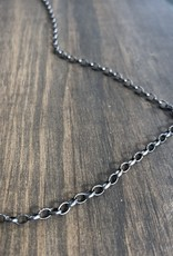 "ERICA MOLINARI 30"" Oxidized Small Link Oval Chain"