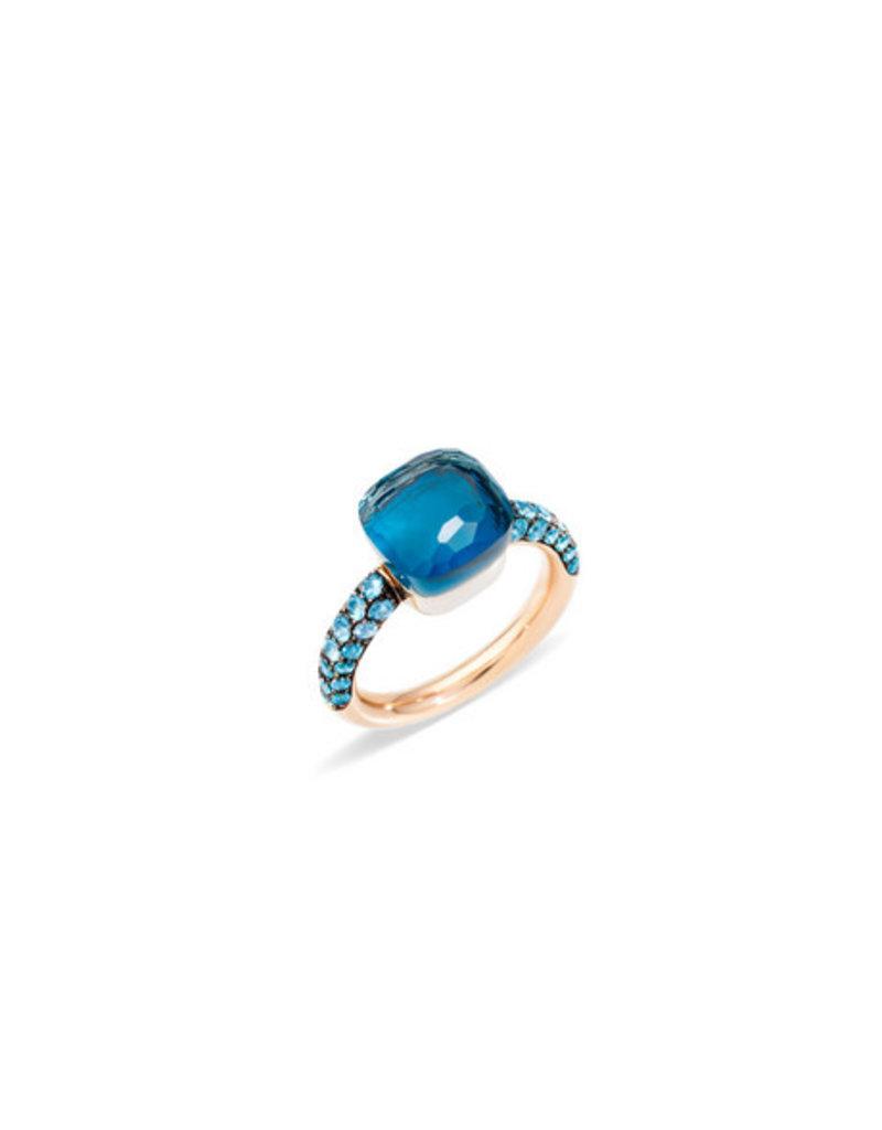 POMELLATO Nudo Deep Blue Ring - London Blue Topaz