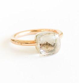 POMELLATO White Topaz Petit Nudo Ring