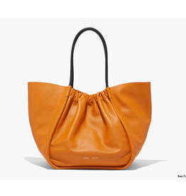 PROENZA SCHOULER XL Ruched Tote - Smooth Calf Orange Ocra