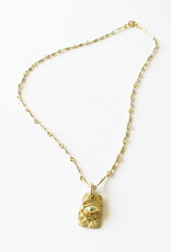 BREVARD 18K Horus w/ Turquoise on Chain Necklace