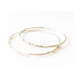 BREVARD Sterling Med Old Money Bangle