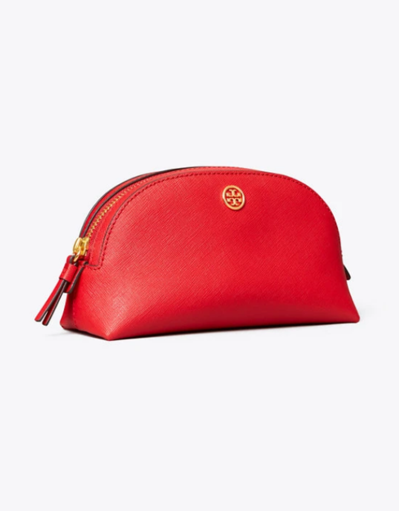 TORY BURCH Robinson Small Makeup Bag - Brilliant Red
