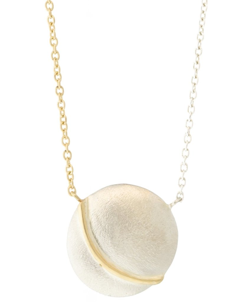 SHAESBY Gold Accent Coin Necklace