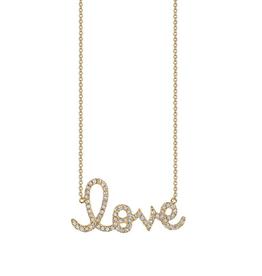 SYDNEY EVAN Large Diamond Love Necklace