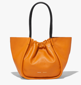 PROENZA SCHOULER L Ruched Tote Smooth Calf - Orange Ocra