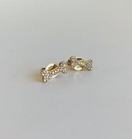 LAUREN FINE JEWELRY Diamond Dog Bone Stud Earrings