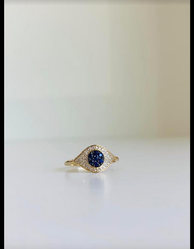 LAUREN FINE JEWELRY Evil Eye Ring