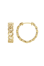 LAUREN FINE JEWELRY Metal Chain Link Hoops