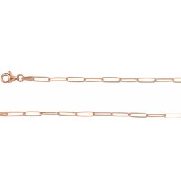 LAUREN FINE JEWELRY Paper Clip Bracelet - Rose Gold